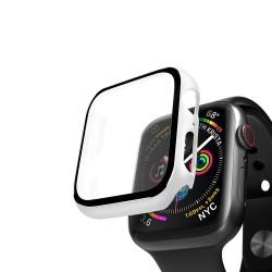 Кейс со стеклом для Apple Watch 4/5 series белый, 44 мм, Deppa (47162)