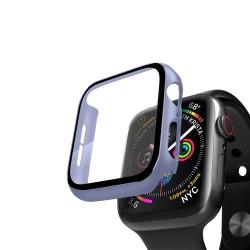 Кейс со стеклом для Apple Watch 4/5 series лавандовый, 40 мм, Deppa (47158)