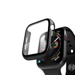 Кейс со стеклом для Apple Watch 4/5 series черный, 40 мм, Deppa (47112)