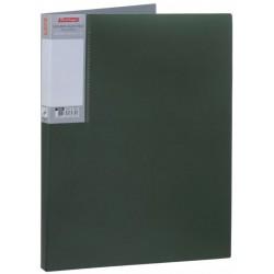 Папка с пружинным скоросшивателем BERLINGO +карман, зеленый металлик (AHn 00704)