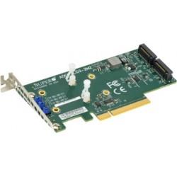 Supermicro AOC-SLG3-2M2 Low Profile PCIe Riser Card supports 2 M.2 Module