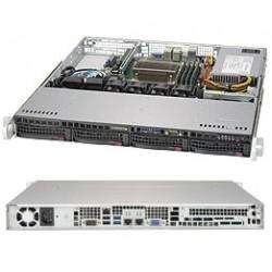 "Supermicro SuperChassis 1U 813MFTQC-350CB/ no HDD(4)LFF/ 1xFH/ 350W Platinum/ (9.6"" x 9.6"", 12"" x 10"")Micro-ATX, ATX/ Backplane 4xSATA/SAS"