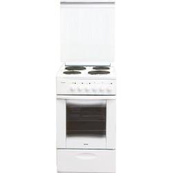 Плита электрическая Лысьва ЭП 411 СТ белая без крышки 4 конфорки, духовка 57л, 50x60x84, механ. уп