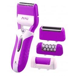 Эпилятор HTC HL-016 Pink 3 насадки:бритва, насадка роликовая пилка для пятокей, эпилятор,время работы 40 мин,600 mAh