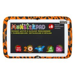 "Планшет TurboKids Monsterpad оранжевый Wi-Fi/7""/1024*600/mSD/1Gb/16Gb/4*1.2ГГц/2МП/And7.1/3000mAh"