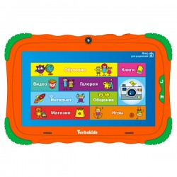"Планшет TurboKids S5 16Gb оранжевый Wi-Fi/7""/1024*600/mSD/1Gb/16Gb/4*1.5ГГц/2МП/And8.1/3000mAh"