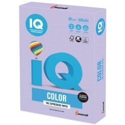 Бумага цветная А4 500л. IQ СOLOR бледно-лиловый LA12