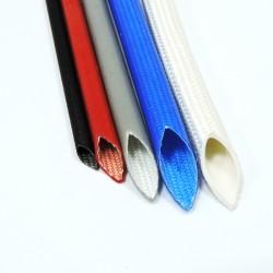 Армированная стекловолокном силиконовая трубка ТКСП d=10мм синий 1200в