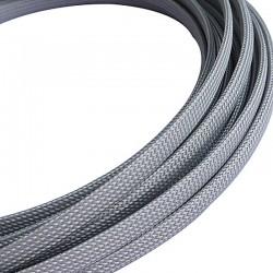 Оплетка на кабель 11-17мм темно-серый змеиная кожа