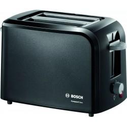 Тостер Bosch TAT 3A013 Black 980Вт, механическое управление