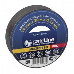 Изолента SafeLine /19мм х 20м//0.15мм серо-стальной