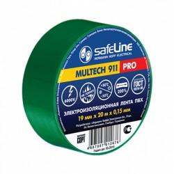 Изолента SafeLine /19мм х 20м//0.15мм зелёная