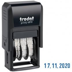 Датер месяц цифрами оттиск 20*4мм синий TRODAT 4810B