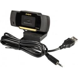Веб-камера ExeGate GoldenEye C270, 0.3МП,640х480, USB, микрофон с шумоподавлением, универсальное крепл