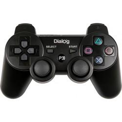 Геймпад Dialog GP-A16RF беспроводной, для PS3, виброотдача, 12 кнопок, 2 стика, радиус 7м, Black
