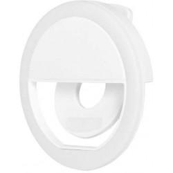 Световое LED кольцо для селфи с креплением на смартфоне DF LED-01 (white)