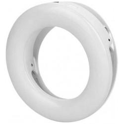 Световое LED кольцо для селфи с креплением на смартфоне DF LED-02 (white)