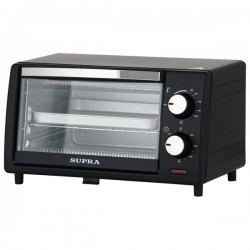 Электропечь Supra MTS-1001 Black 800Вт, механич. управ., 10л, противень.