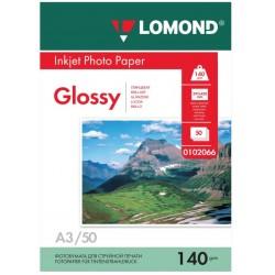 Бумага Lomond 140 г/м2, А3, глянцевая, 50л. (0102066)