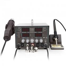 Паяльная станция BAKU BA-8305D, паяльник 100..480°С, фен турбинный 200..480°С, ЛБП 30в, 5а, 900вт