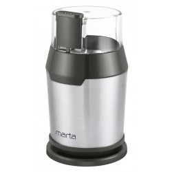 Кофемолка Marta MT-2168 Серый жемчуг 250Вт, вместим. 50г, ротационный нож, пластик