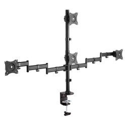 "Кронштейн для монитора Arm media LCD-T16 black на 4 монитора до 32"", до 40кг, наклон, поворот"