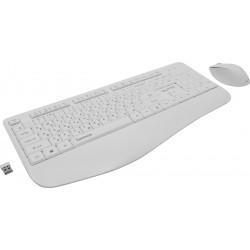 Комплект (клавиатура+мышь) Игровой набор Qumo Space K57/M75 клавиатура 104 клавиши,мышь 1200dpi,White беспроводной