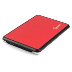 """Внешний бокс для HDD 2.5"""" USB 3.0  Gembird EE2-U3S-61 красный металлик,нержавеющая сталь"""