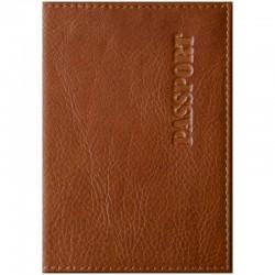 """Обложка для паспорта OfficeSpace """"Элегант"""" кожа, светло-коричневый 254223"""