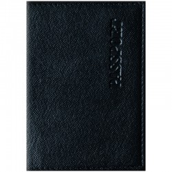 """Обложка для паспорта OfficeSpace """"Бизнес"""" кожзам, черный 254217"""