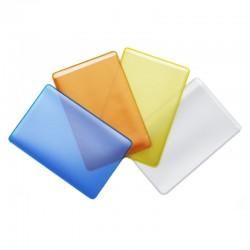 Обложка-карман для проездных ДПС, 98*65мм, ПВХ, прозрачная, цветная 1164.Ф/50