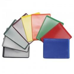 Обложка-карман для проездных ДПС, двусторонняя, 69*92мм, ПВХ, цветной, ассорти (1351.300/50)