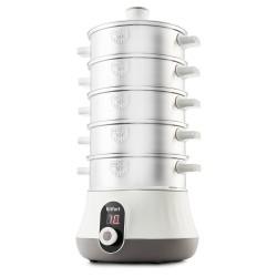 Пароварка Kitfort КТ-2035 Белый/серый, 600Вт,  5 ярусов, 1л, пластик