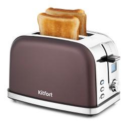 Тостер Kitfort КТ-2036-4 Темно-кофейный 950Вт, электронное управление, 5 режимов