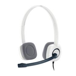 Гарнитура Logitech H150 (981-000350) накладные, 24Ом, 100дБ, кабель 2м, White