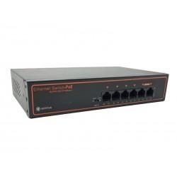 Коммутатор Optimus UM1-E6/4P mini 75Вт, буфер 2Мб, 4 порта 10/100Mbps, 2 порта 10/100 Mbps RJ-45 Uplink
