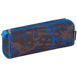 Пенал-косметичка BRAUBERG полиэстер, серо-синий, 1 отделение (223905)