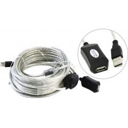 Кабель удлинительный USB2.0 AA 15м Aopen/Qust ACU823-15M активный