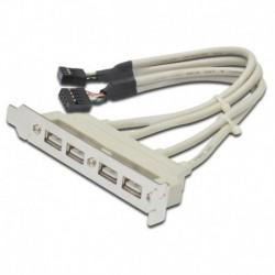 Планка в системный блок USB*2.0 AT5258 4 порта, на заднюю панель, с материнской платы