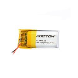 Аккумулятор Li-Pol ROBITON 401225 3.7В 90mAh PK1/3.7в, контроллер, гибкие выводы, 25x12x4мм