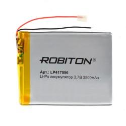 Аккумулятор Li-Pol ROBITON 417596 3.7В 3500mAh PK1/3.7в, контроллер, гибкие выводы, 4.1x75x96мм