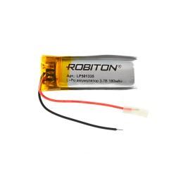 Аккумулятор Li-Pol ROBITON 501335 3.7В 180mAh PK1/3.7в, контроллер, гибкие выводы