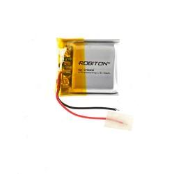 Аккумулятор Li-Pol ROBITON 502020 3.7В 150mAh PK1/3.7в, контроллер, гибкие выводы, 20x20x5мм