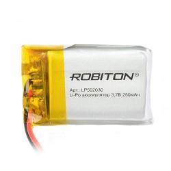 Аккумулятор Li-Pol ROBITON 502030 3.7В 250mAh PK1/3.7в