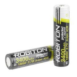 Аккумулятор Li-ion ROBITON 18650 3400mAh / защита/3,7в