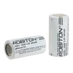 Аккумулятор Li-FePO4 Robiton 16340 450mAh /без защиты/ RCR123A