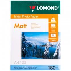 Бумага Lomond 180 г/м2, А4, матовая, 25л. (0102037)