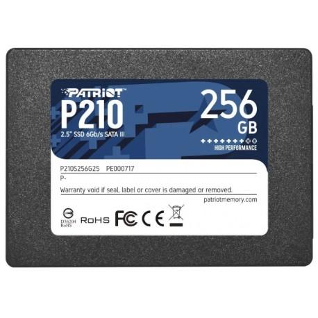 SSD-накопитель 256Гб Patriot P210 [P210S256G25](Silicon Motion SM2258XT,TLC 3D NAND,500/400 Мб/с)