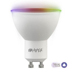 Умная лампочка HIPER IoT HI-B1 RGB/LED/Wi-Fi/GU10/MR16/12Вт/2700К-6500К/1020lm/HI-B1RGB
