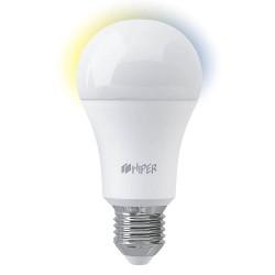 Умная лампочка HIPER IoT A61 White/LED/Wi-Fi/Е27/12Вт/2700К-6500К/1020lm/HI-A61W